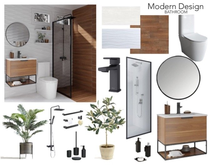 Material Mood Board - Natural collection